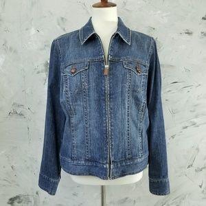 LIZ CLAIBORNE Denim Jean Jacket Size Large